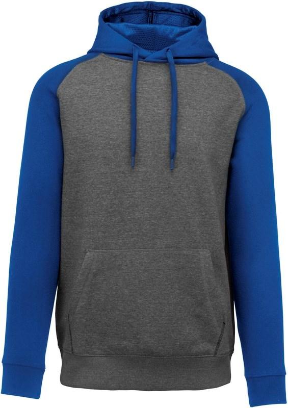 PROACT® Tweekleurige sweater met capuchon volwassene