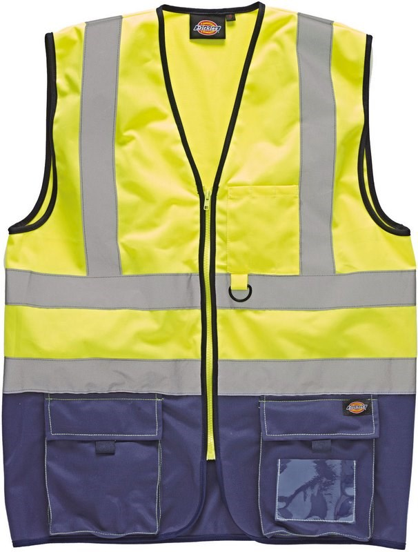 Dickies High Visibility Two Tone Waistcoat