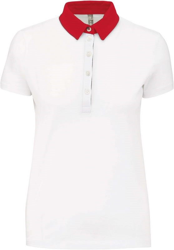 Kariban Tweekleurige damespolo jersey