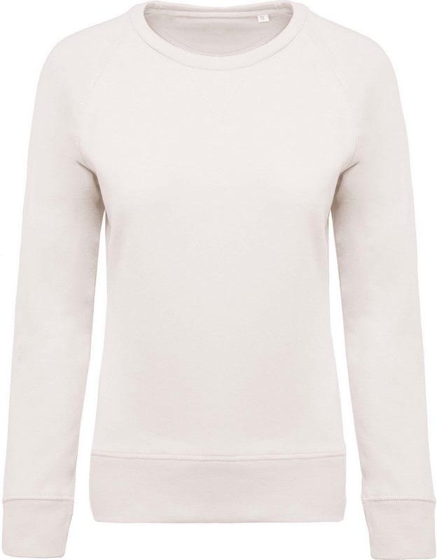 Kariban Damessweater BIO ronde hals raglanmouwen