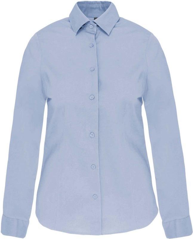 Kariban Dames stretch blouse lange mouwen