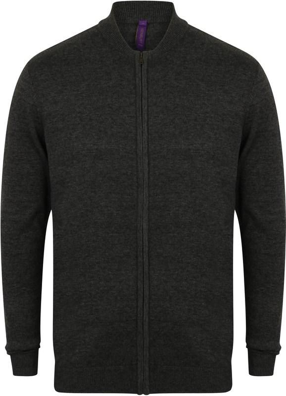 Henbury Knitted bomber jacket