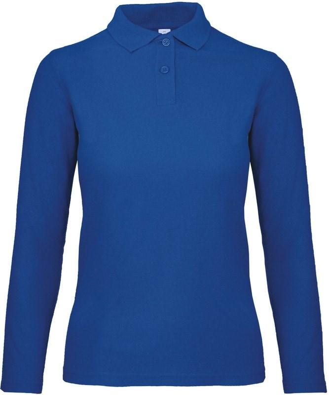 B&C ID.001 Ladies' long-sleeve polo shirt