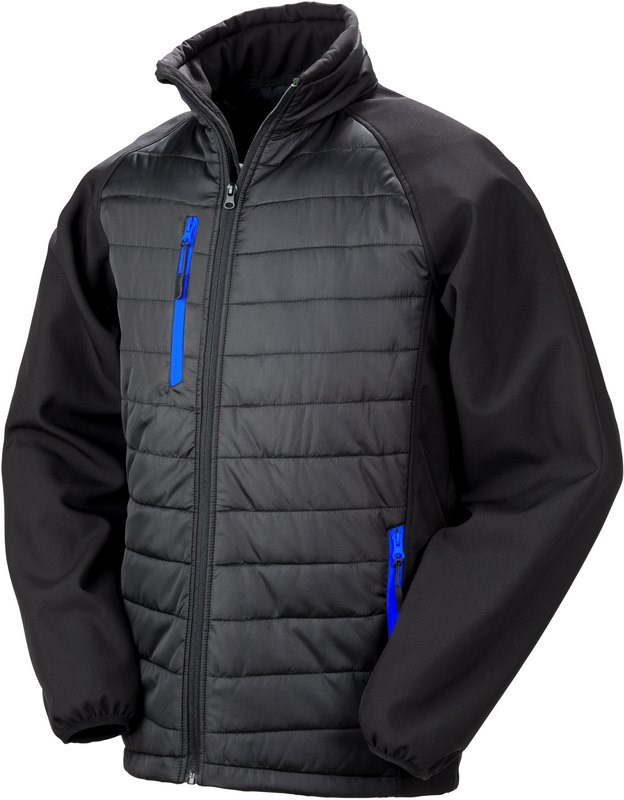 Result BLACK COMPASS PADDED SOFT SHELL JACKET