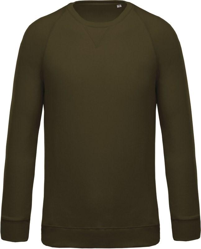 Kariban Herensweater BIO ronde hals raglanmouwen