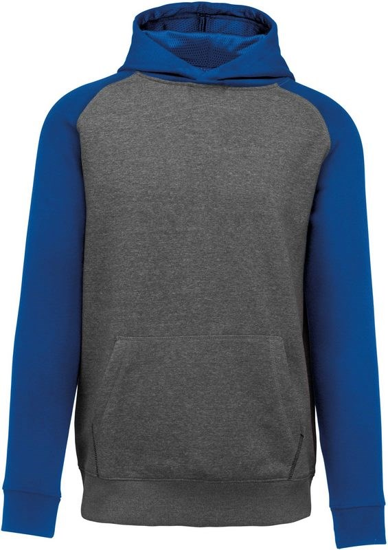 PROACT® Tweekleurige sweater met capuchon kids