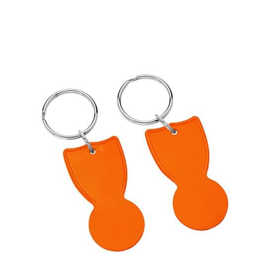 Bild 1€-Einkaufswagenchip, orange