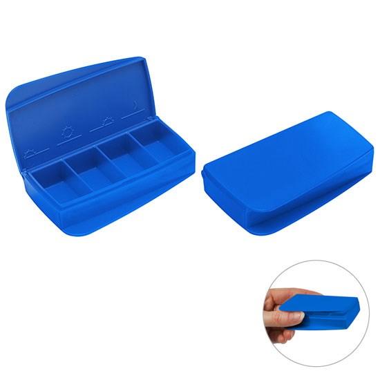 Bild Pillendose, blau/blau