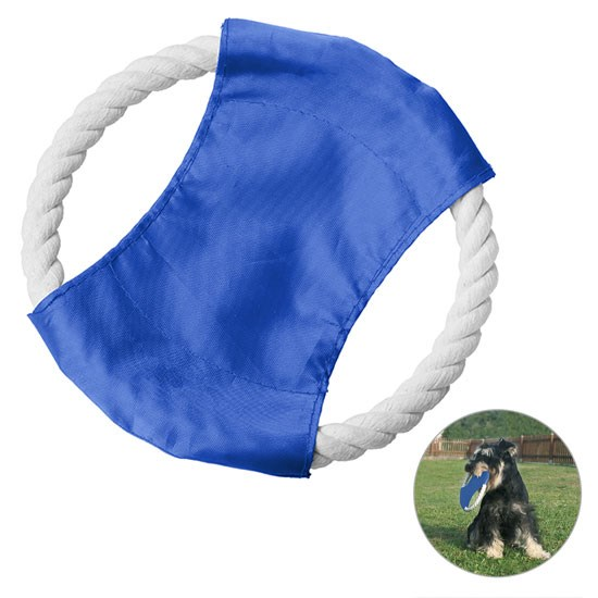 Bild Hunde-Flugscheibe, blau/weiß
