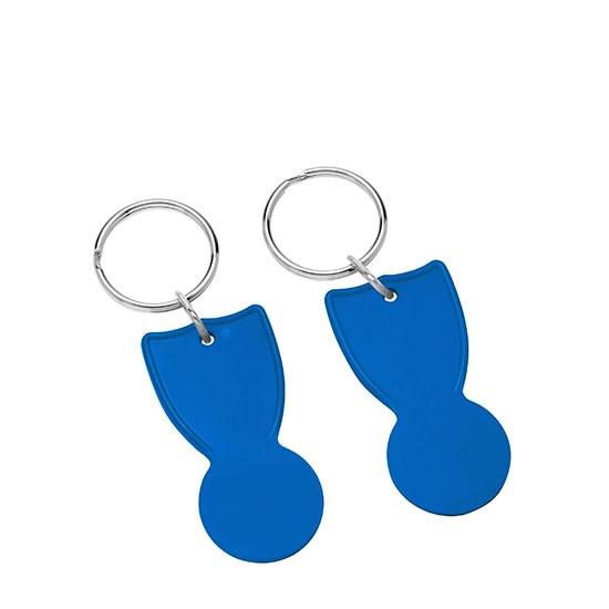 Bild 1€-Einkaufswagenchip, blau