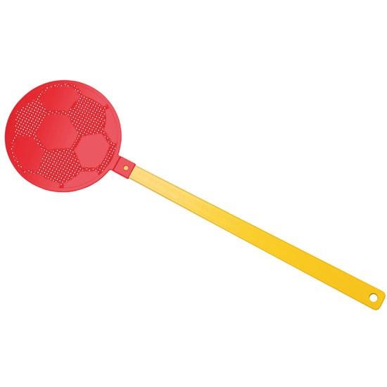 """Bild Fliegenklatsche """"Fußball"""", gelb/rot"""