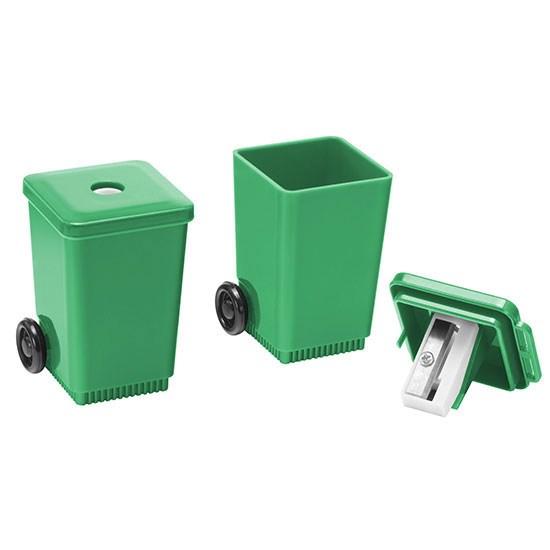 """Bild Bleistiftspitzer """"Mülltonne"""", grün"""