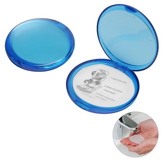 Bild Seifendose, gefrostet blau