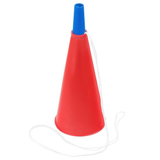 Bild Fan-Horn, rot/blau