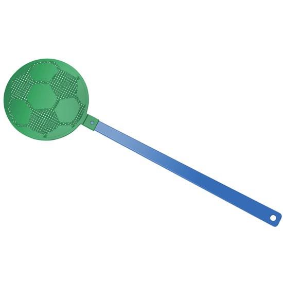 """Bild Fliegenklatsche """"Fußball"""", blau/grün"""