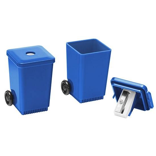 """Bild Bleistiftspitzer """"Mülltonne"""", blau"""