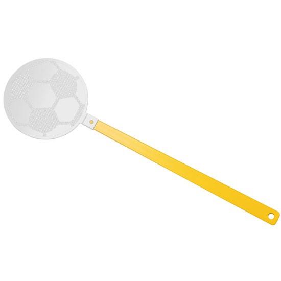 """Bild Fliegenklatsche """"Fußball"""", gelb/weiß"""