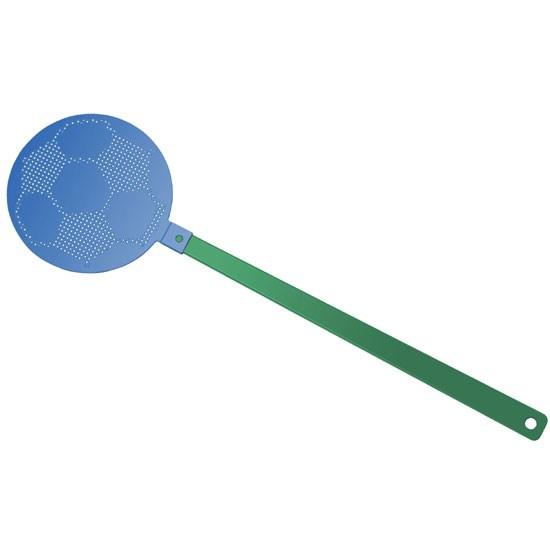 """Bild Fliegenklatsche """"Fußball"""", grün/blau"""