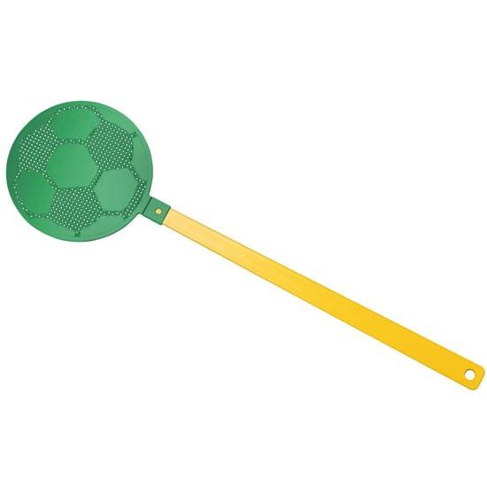 """Bild Fliegenklatsche """"Fußball"""", gelb/grün"""