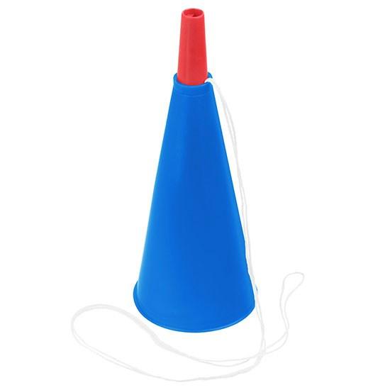 Bild Fan-Horn, blau/rot
