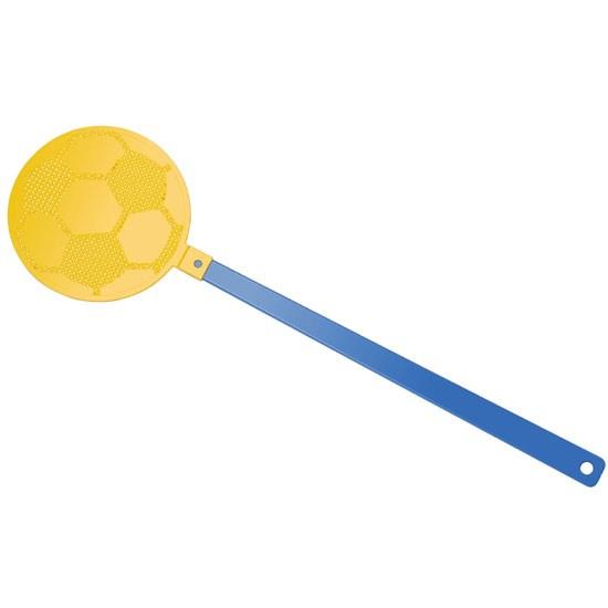 """Bild Fliegenklatsche """"Fußball"""", blau/gelb"""