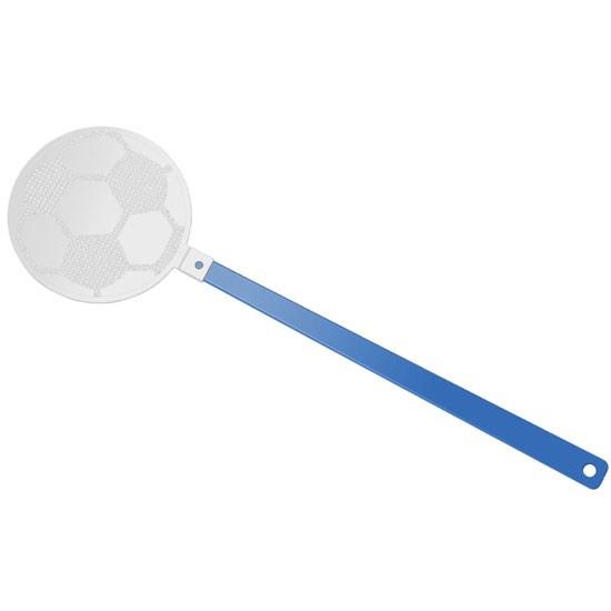 """Bild Fliegenklatsche """"Fußball"""", blau/weiß"""