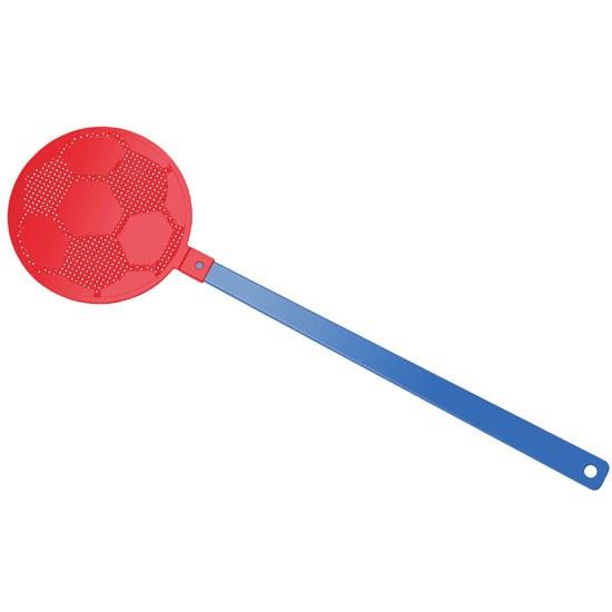 """Bild Fliegenklatsche """"Fußball"""", blau/rot"""