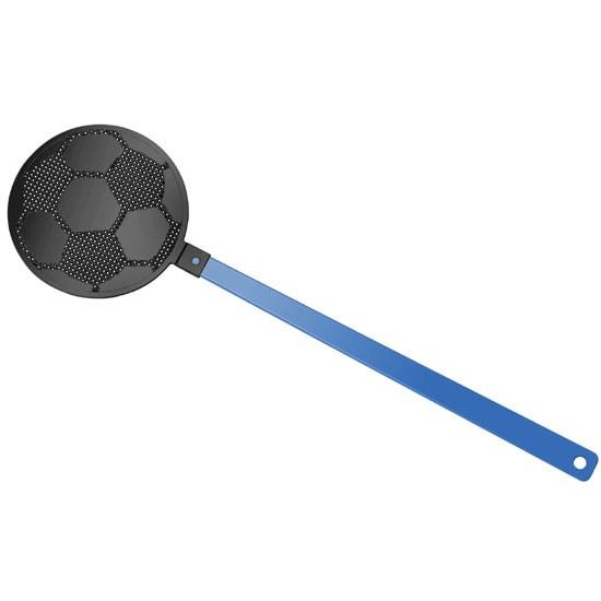 """Bild Fliegenklatsche """"Fußball"""", blau/schwarz"""
