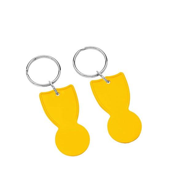 Bild 1€-Einkaufswagenchip, gelb