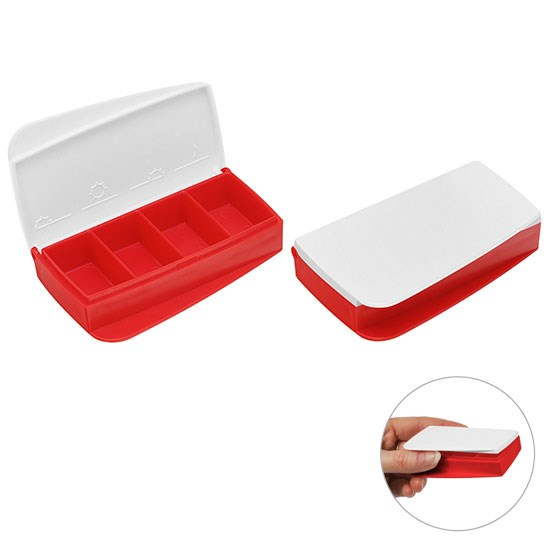 Bild Pillendose, rot/weiß