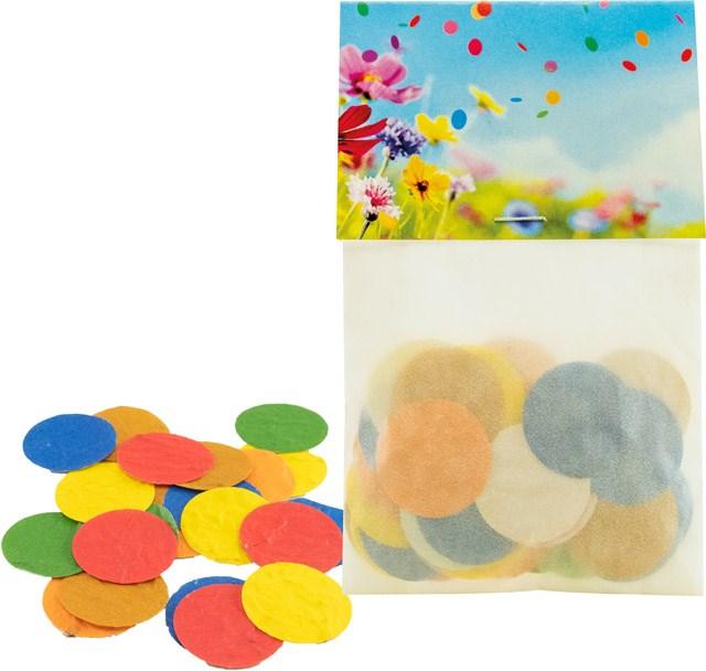 Bild Buntes Samenkonfetti, bunte Blumenmischung, 1-4 c Digitaldruck inklusive