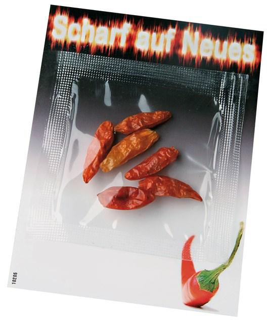 Bild Chili Kärtchen 70 x 90 mm, 1-4 c Digitaldruck inklusive
