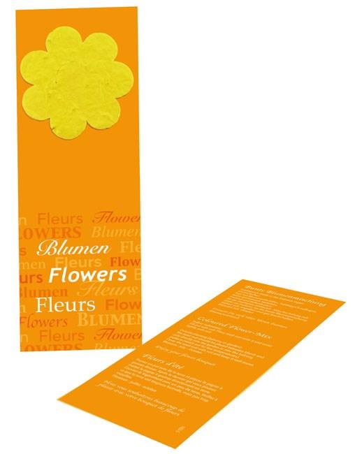 Bild Blumige Lesezeit, bunte Blumenmischung, 1-4 c Digitaldruck inklusive